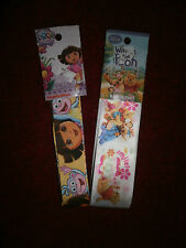 DORA THE EXPLORER AND WINNIE THE POOH 3 YARDS PER PACK OF  CRAFT RIBBON