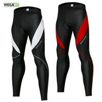 Men's Cycling Pants Knee Fleece Padded Trousers MTB Bike Leggings Long Tights