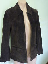 Brand New!! Classic Chocolate Brown Suede Leather Jacket (size10) RRP $129