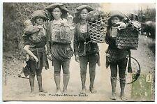 CARTE POSTALE CHINE TONKIN  MANS EN ROUTE 1906