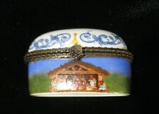 Imperial Porcelain trinket Box Luke 2:11 To you is Born a Savior Christ the Lord