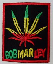 DIY Bob Marley Reggae Leaf Emblem Sew Iron-On Embroidered Applique Patch Badge