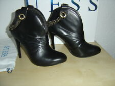Guess Bottines Bottes Bottines Boots avec chaîne Noir Eur 40 US 9 UK 7