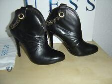 Guess Stiefeletten Stiefel Ankle Boots mit Kette schwarz EUR 40 US 9 UK 7