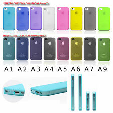 COVER per APPLE IPHONE 4 4G 4S BUMPER CASE CUSTODIA CON ANTIPOLVERE