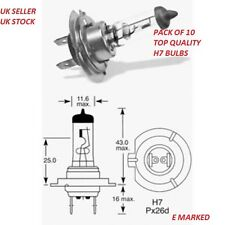 10 x Brand New H7 499 HEADLAMP HEADLIGHT CAR BULBS 12v 55w (2 PIN)