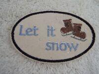 "E18 Morton Salt Umbrella Girl 4-5//8/"" Embroidery Iron-on Custom Patch"