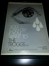 The Troggs You Can Cry If You Want To Rare Promo Poster Ad Framed!