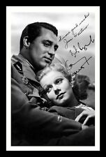 CARY GRANT & JEAN HARLOW AUTOGRAPHED SIGNED & FRAMED PP POSTER PHOTO