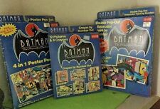 BATMAN Animated Series Crayon by Number, Poster Pen Set, Watercolor Set Sealed