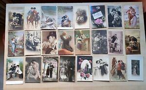 *NH* Cartoline amanti amore Eros love vintage innamorati postcard postkarte