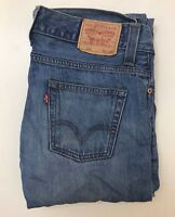J1103  VINTAGE LEVI'S STRAUSS & CO 506 MENS LIGHT BLUE DENIM JEANS W34  L32