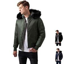 Nylon Hooded Bomber, Harrington Coats & Jackets for Men