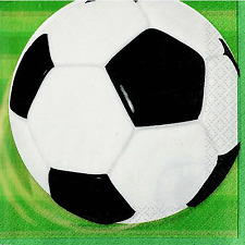 16 Football 2ply Sports Party 33cm Disposable Paper Napkins