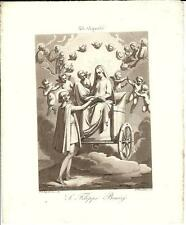 Stampa antica SAN FILIPPO Benizi Bigioli 1839 Old antique print