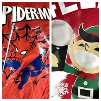 LOT 2 Boys long sleeve Shirts Christmas Holiday Spider-Man Light Up size 4T H