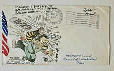 US propaganda patriotic cover anti Japan APO 322 New Guinea Free stampless WWII