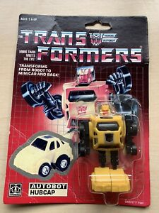 Transformers G1 Hubcap card and bubble (come away) rare