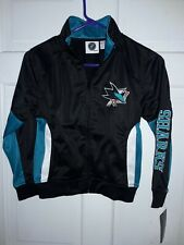 San Jose Sharks NY Hockey NHL apparel track Jacket athletic gear coat - Youth S
