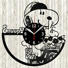 Snoopy Vinyl Record Wall Clock Decor Handmade 2560
