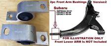 2pc FrontLowerControl Bushings fit for Subaru Impreza 93-2003 Legacy 95 96 97-04