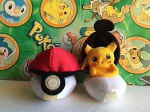 Pokemon Plush Pikachu Finger Puppet Tomy Doll Pokeball stuffed UFO figure toy go