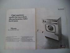 advertising Pubblicità 1978 LAVATRICE AEG CLARA LAVAMAT SL