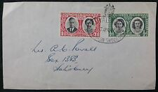 Southern Rhodesia 1947 Royal Tour PMK, Royal Visit 1d & 1/2d Stamps, Plain Cover