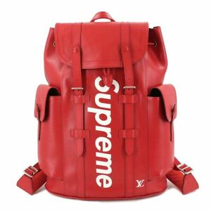 LOUIS VUITTON Supreme Epi Christopher PM Back Pack Leather Red M53414 90114703
