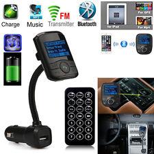 Bluetooth V3.0 LCD Car Kit MP3 Player Modulator SD MMC USB Remote FM Transmitter