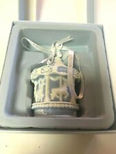 WEDGWOOD BABY'S FIRST CAROUSEL BLUE - ORNAMENT WITH BOX- 2011 - NEW! NEW! NEW!