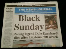 "2001 ""Black Sunday""  editon of The Daytona Beach News-Journal. FEB 19th 2001."