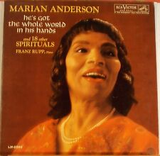 "Marian Anderson ""He's Got The Whole World.."" LP Record 1962 RCA Red Seal VG+"