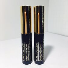 2x Estee Lauder Sumptuous Knockout Defining Lift and Fan Mascara 01 Black NEW