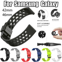 Silicone Bracelet Strap Watch Band Replacement For Samsung Galaxy Watch 42/46mm