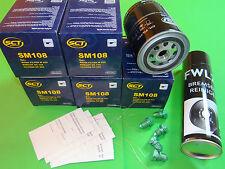 5x Ölfilter + Bremsenreiniger Audi A4 (8E) Cabriolet (8H) 1.8T (110-140kW)