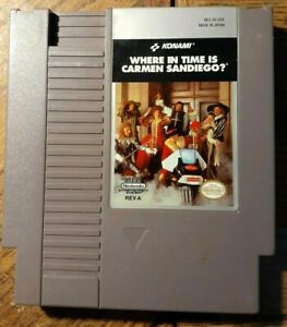 Where in Time is Carmen Sandiego (Nintendo NES) VG Shape & Tested