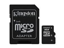 Kingston 8GB MicroSDHC Card & Micro to SD Adapter Class 4 SDC4/8GB 2U09371