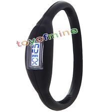 Silicona Negativo Negro Nueva Moda Sport reloj de pulsera unisex Wholesale