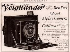 AD LOT 6 EARLY ADS VOIGHTLANDER METAL ALPINE CAMERA COLLINEAR  CAT
