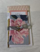 Hallmark Floral Memo Pad Set With Gold Pen