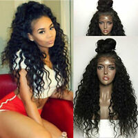 4*4 Silk Top Base Full Lace Wig Deep Wave Brazilian Virgin Human Hair Wigs Thick