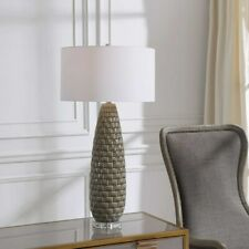 """BELREGARD CONTEMPORARY STACKED TILE LOOK CERAMIC XXL 35"""" TABLE LAMP UTTERMOST"""
