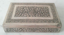 Antique Engraved Repousse Siam Dancer Solid 900 Silver Box - Beautiful!