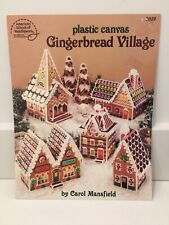Vtg Plastic Canvas Pattern Book Gingerbread Village Iced Candy Houses Trees