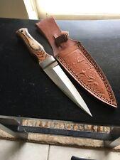 "9"" Celtic Scottish Dirk Sgian Dubh Dagger wood Handle Knife Scotland"