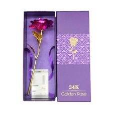24K Gold Plated Golden Rose Flower Valentine's Day Present Decoration With Box