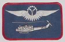 Ricamate patch namemsschild Bell uh-1d bordo meccanico in argento... a3630