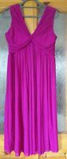 ASOS Maternity Dress Magenta Pink UK12 Wedding Guest Summer Glam Yummy Mummy