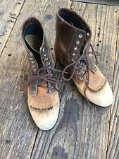 Ariat Women's Brown Leather Lacer Boots, Cowboy, Western, Sz 5.5, Free Shipping